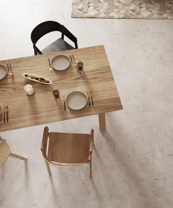 Stół drewniany widok z góry