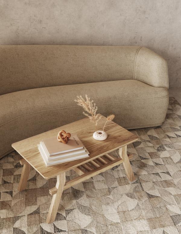 Stolik kawowy drewniany prostokątny kolekcja Cutter